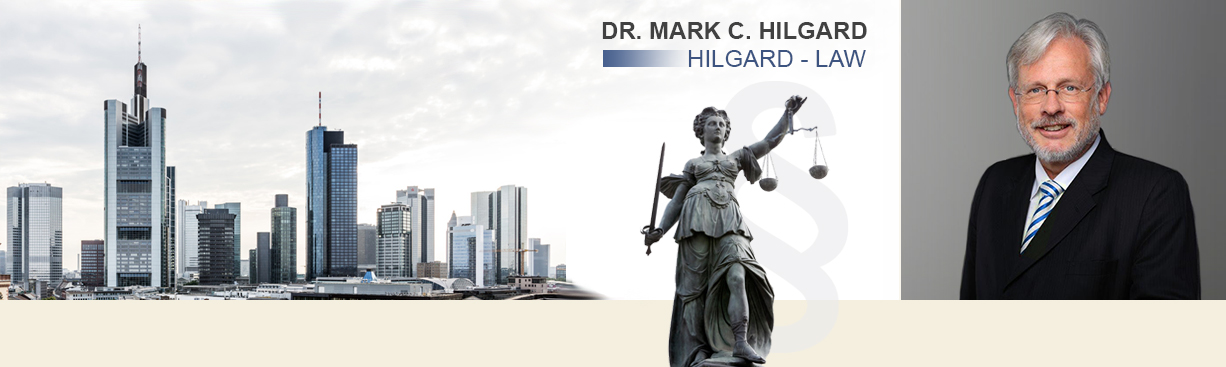 Lawyer Dr. Hilgard in Frankfurt with main focus arbitral institutions